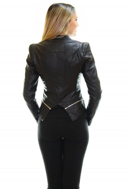 Geaca de Piele Special Design Black
