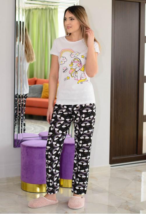 Pijama Rainbow White