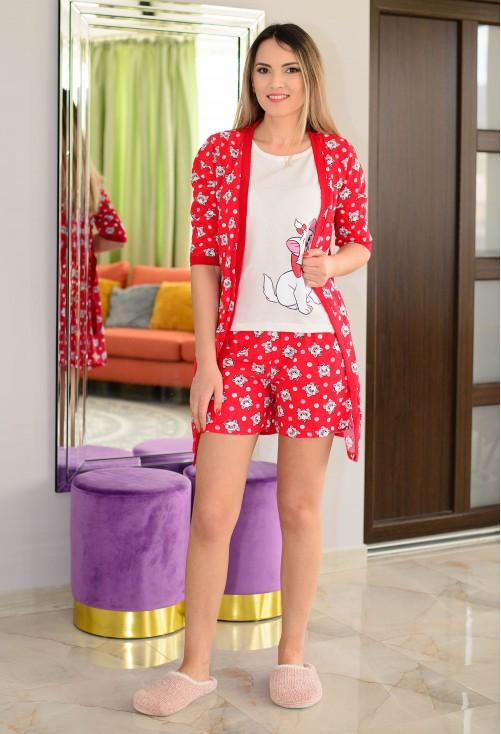 Pijama Happy Cat Red