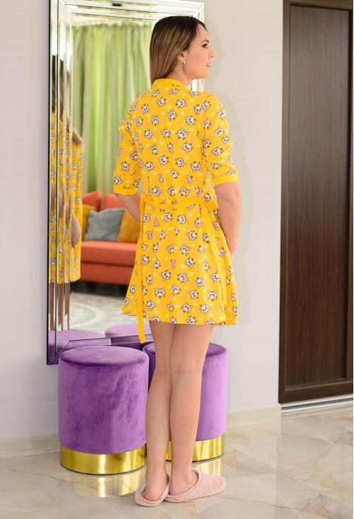 Pijama Happy Cat Yellow