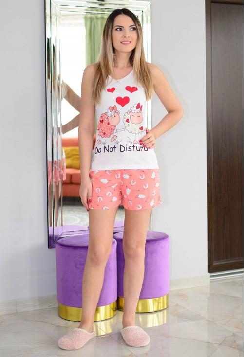 Pijama Do Not Disturb White
