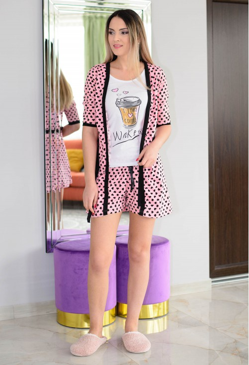 Pijama Mini Hearts Pink