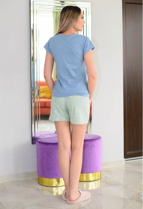 Pijama Small Roses Blue