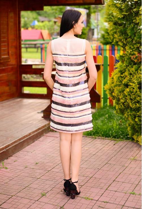 Rochie Ella Collection Colorful Fringe