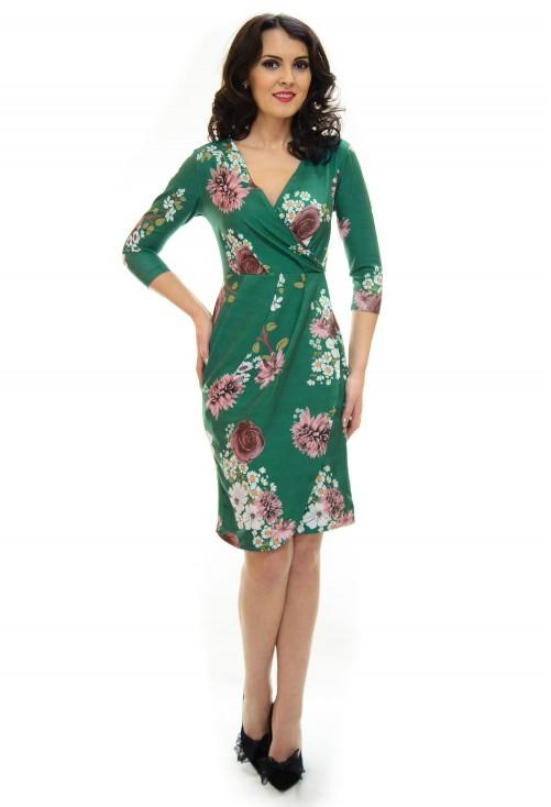 Rochie Complete Pattern Green