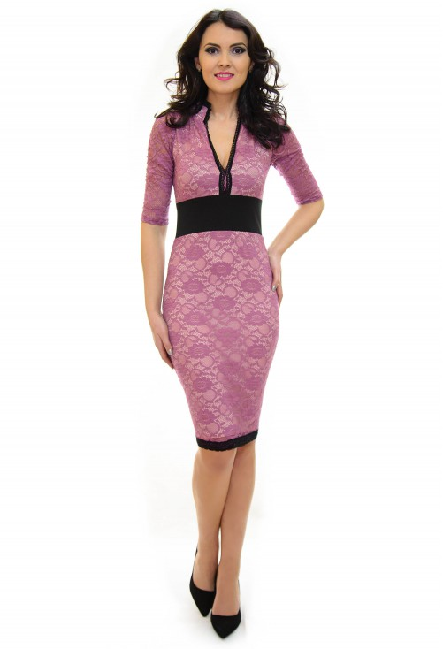 Rochie Ella Collection Royalty Lace Purple