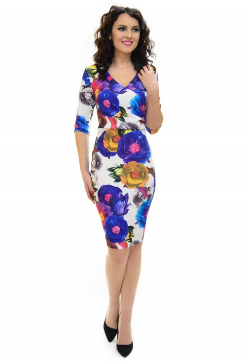 Rochie Perla Donna Flower Proposal Blue