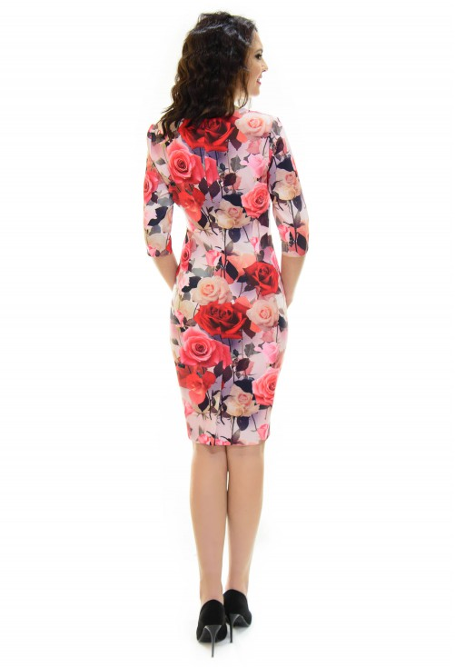 Rochie Perla Donna Flower Proposal Red