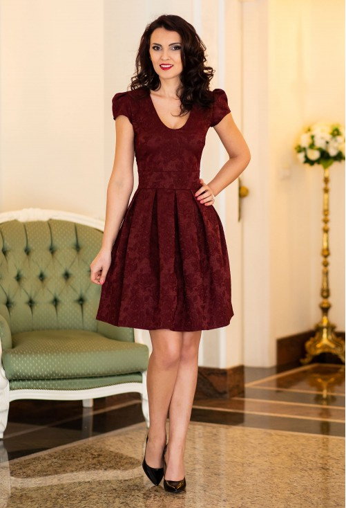 Rochie Ella Collection On Move Burgundy