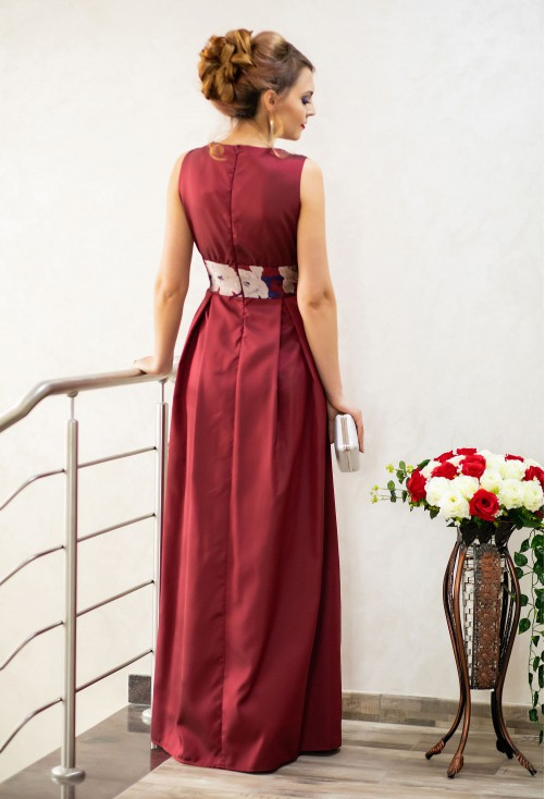 Rochie Ella Collection Night Delight Burgundy