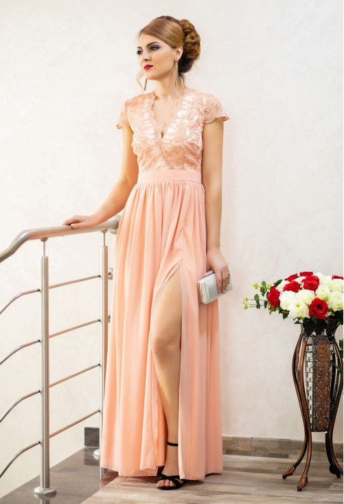 Rochie Ella Collection Daring Truth Peach