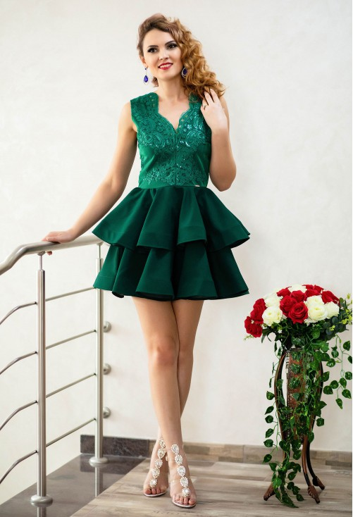 Rochie One Defense Green