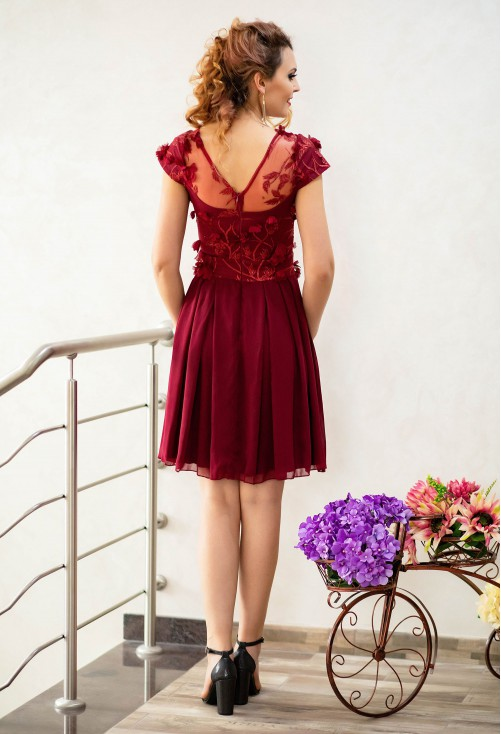 Rochie Ella Collection Best Flower Burgundy