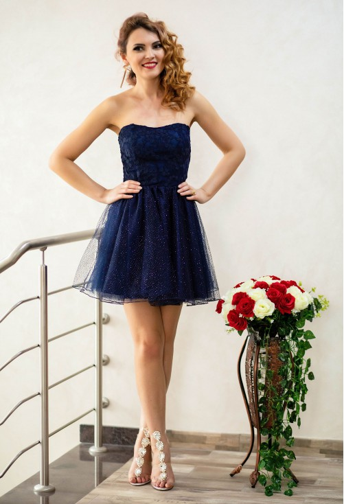 Rochie Ella Collection Baby Doll DarkBlue