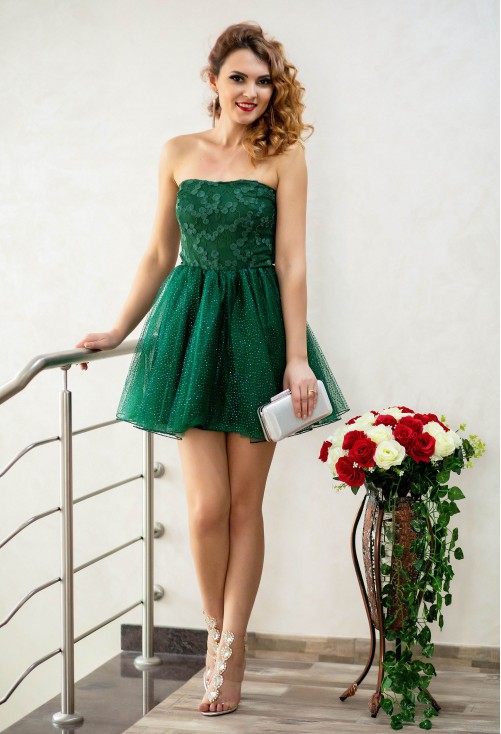 Rochie Ella Collection Baby Doll Green