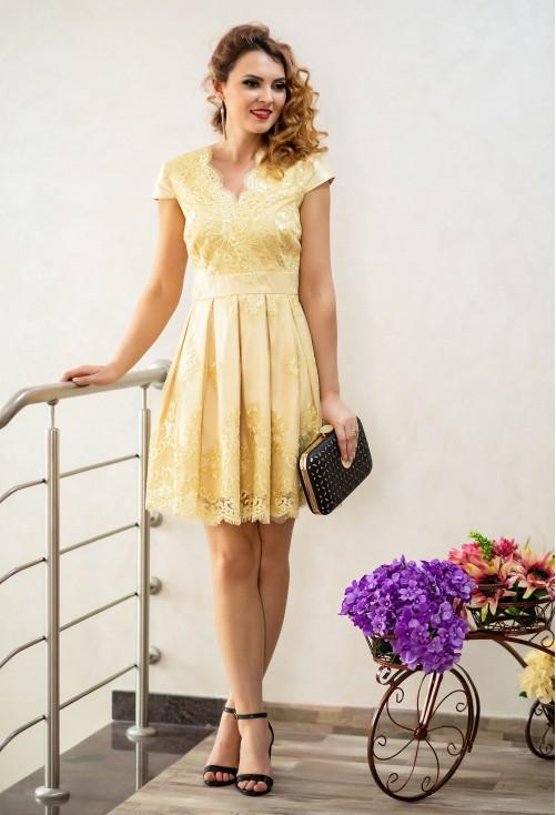 Rochie Ella Collection Dream Taste Yellow