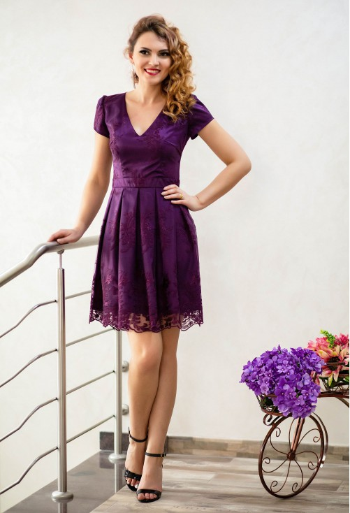 Rochie Ella Collection On Type Purple
