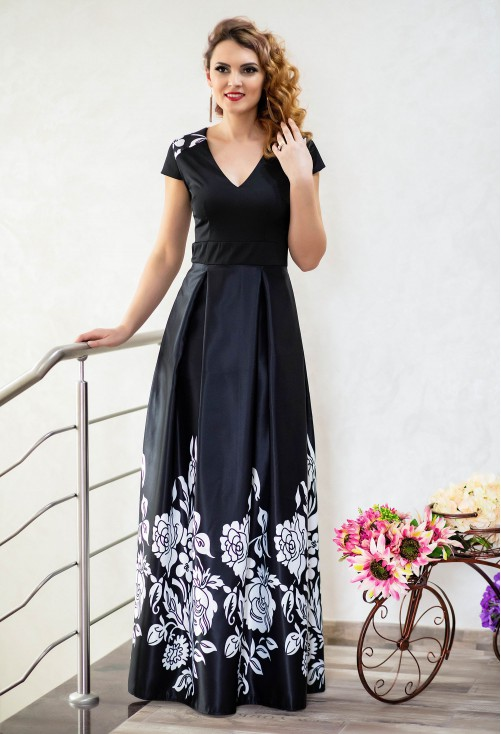 Rochie Ella Collection Long Destiny Black