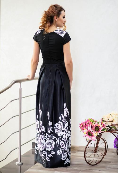 Rochie Ella Collection Long Destiny Black