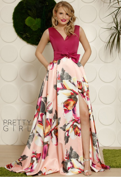Rochie Pretty Girl Red Carpet Peach