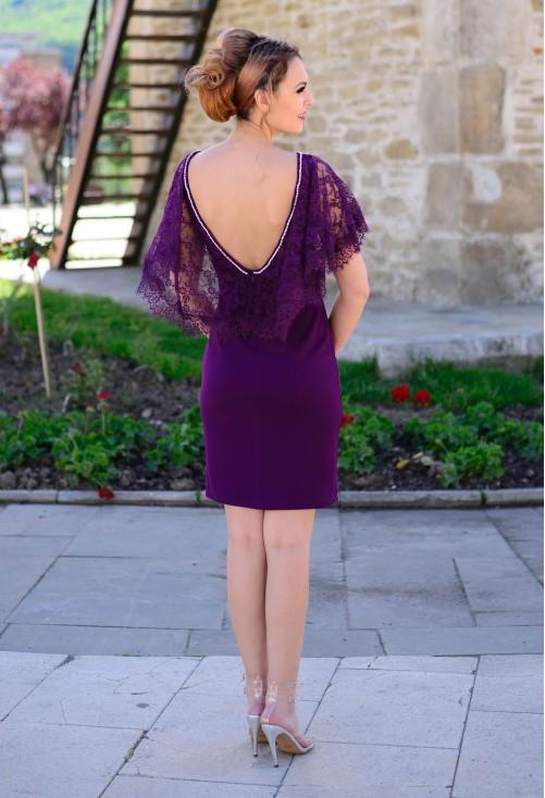 Rochie Flattering Lace Purple