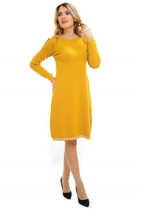 Rochie Tricotata Best Part Mustard