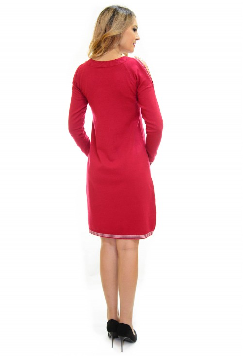 Rochie Tricotata Best Part Red