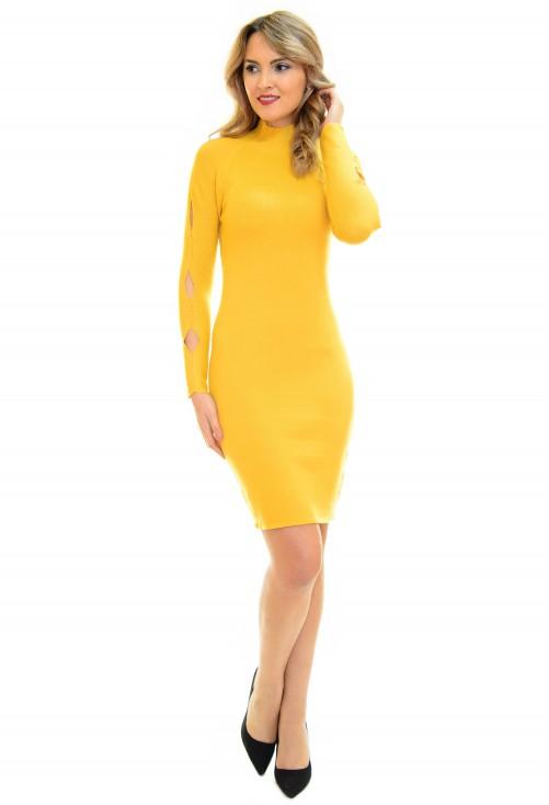 Rochie Tricotata Best Way Yellow