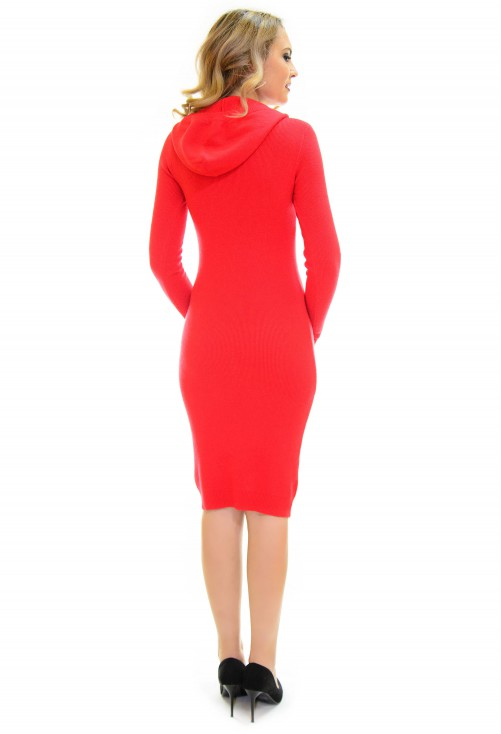 Rochie Tricotata Little On Red