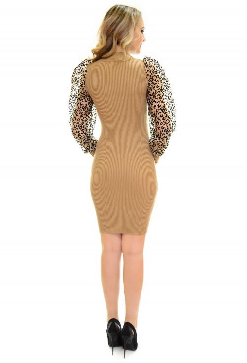 Rochie Tricotata Soft Elegance Brown