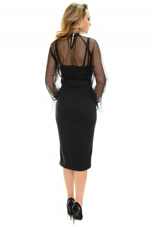 Rochie On The Run Black