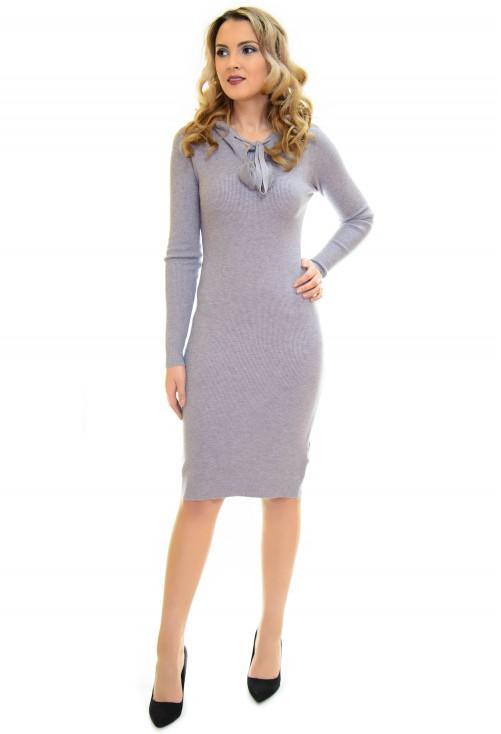 Rochie Tricotata Little On Grey