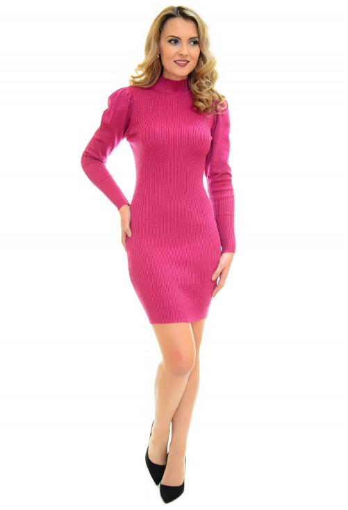 Rochie Tricotata Festive Sparkle Pink