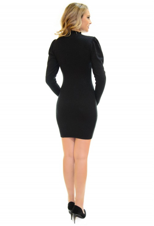 Rochie Tricotata Festive Sparkle Black