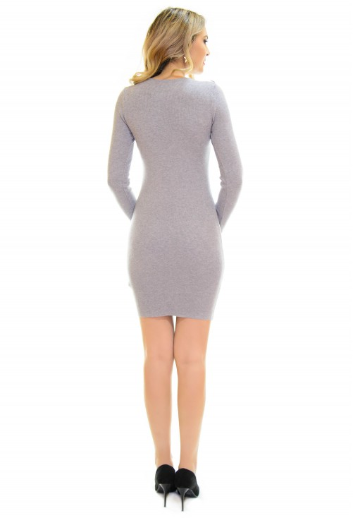 Rochie Tricotata Special Chains Grey