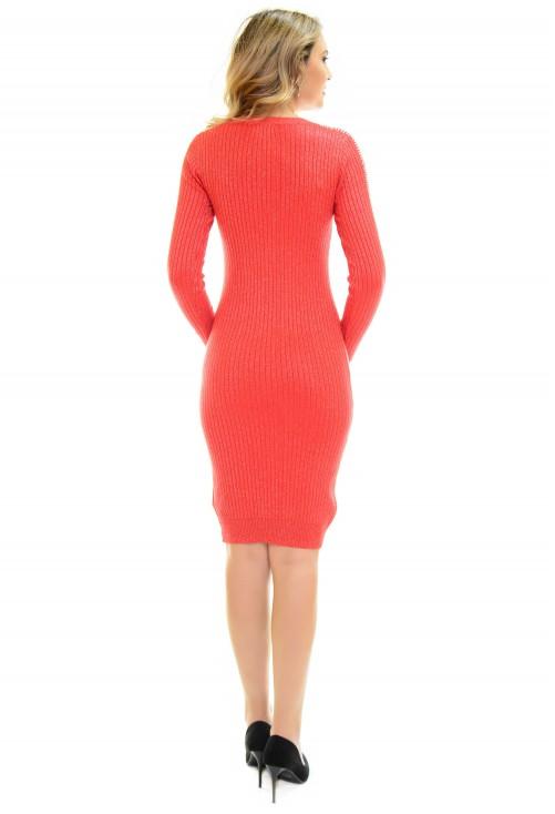 Rochie Tricotata Red Desire