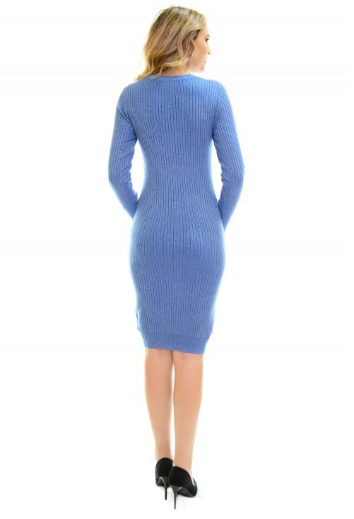 Rochie Tricotata Blue Desire
