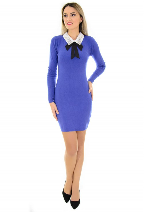 Rochie Back To Office Blue