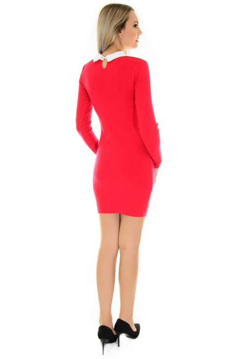 Rochie Back To Office Red