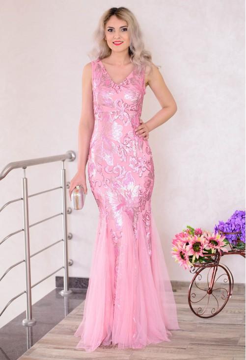 Rochie Mermaid Sparkle Pink