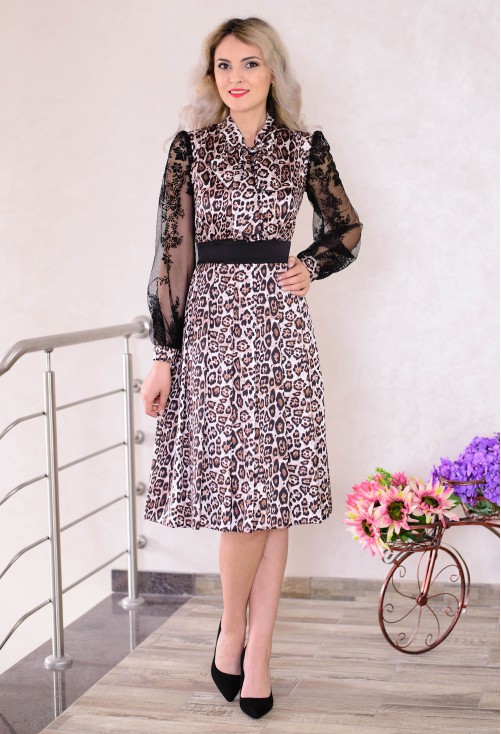 Rochie Ella Collection Perfect Timing Animal Print