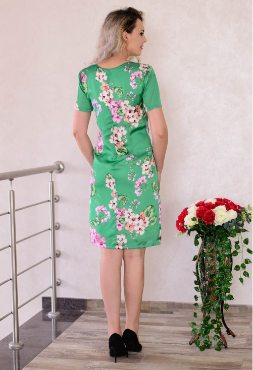 Rochie Floral Grace Green