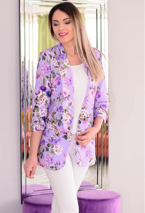 Sacou Flower Design Purple