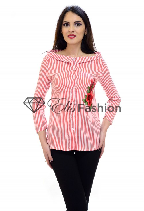 Camasa Fancy Lines Red
