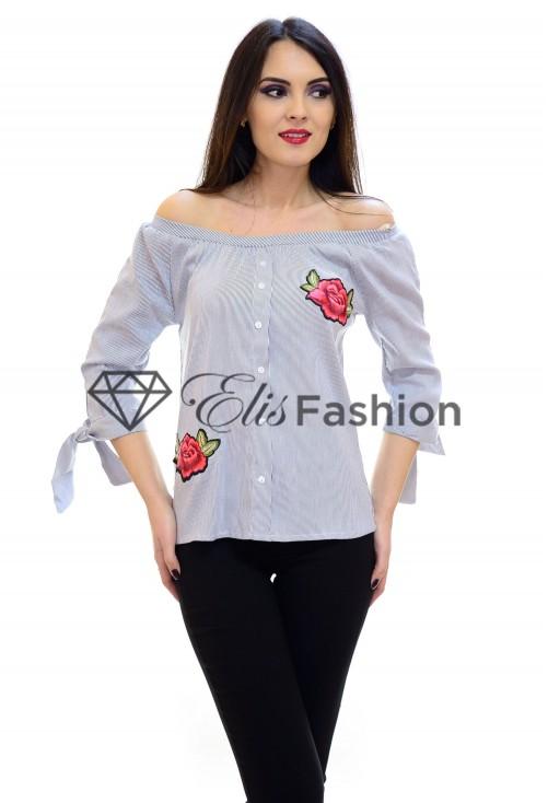 Bluza Grey Shoulder