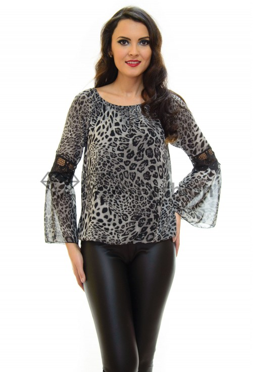Bluza Animal Print Grey