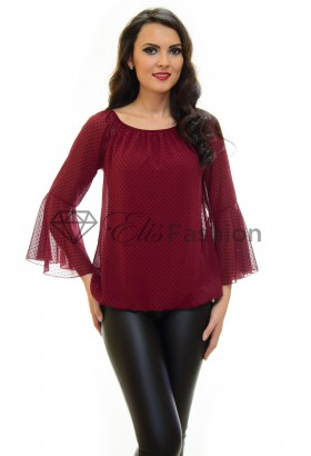 Bluza Dots Feel Burgundy