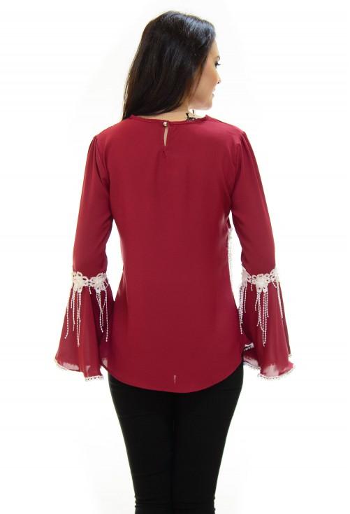 Bluza Flawless Details Burgundy