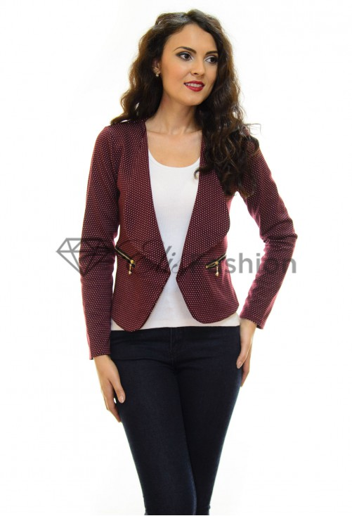 Blazer Small Dots Burgundy