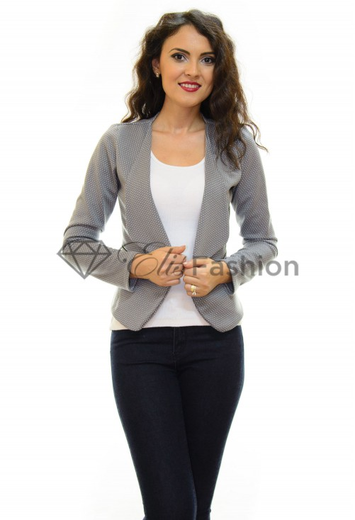 Blazer Small Dots Grey